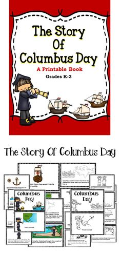 Columbus Day - A printable book for the classroom and students  #education