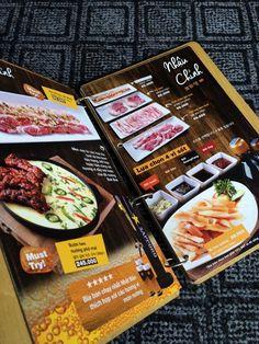 In ấn và Thiết kế Menu nhà hàng cho quán ăn Hàn Quốc - DDN Printing