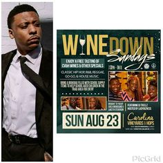 It keeps getting better....#WineDownSundays is brining NC Singer @juztkp back to grace us with his electric sound! Be there Sunday AUGUST 23 at Carolina Vineyard and Hops in Winston Salem, NC. @winedownsundays #LadyBizness approved