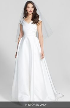 Main Image - Jesús Peiró Taffeta Mikado A-Line Dress (In Stores Only)