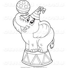 31 best Circus Elephant Pink Orange images on Pinterest