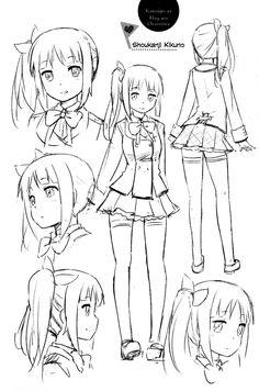 Kanojo ga Flag wo Oraretara - MANGA - Lector - TuMangaOnline Anime Drawing Books, Anime Girl Drawings, Cartoon Drawings, Cute Drawings, Anime Art, Drawing Reference Poses, Drawing Poses, Manga Drawing Tutorials, Figure Sketching