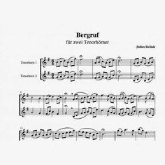 """Bergruf"" Tenorhorn Duett"