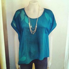 Gentle Fawn 'limit' blouse   Beautiful Jewel Teal  $69  Girl Friday- Toronto