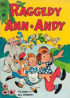 Raggedy Ann & Andy Comic Book Cover  (1950)