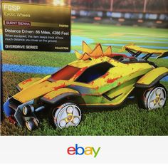 """Burnt Sienna"" Fgsp Exotic Wheels Rocket League Xbox One Overdrive Series Crate"