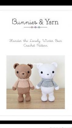 [Nuevo]Bunnies and Yarn - Michelle Alvarez - Xander the Lovely Winter Bear Crochet Pattern-Knitting and Crochet Communication-Crochet Patterns-PinDIY -