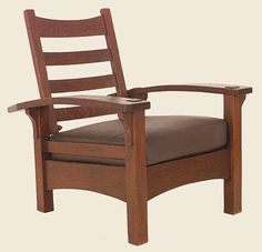 Gustav Stickley Morris Chair: Very rare and early bow arm morris chair with clip corner arms circa 1902, (sold for 15K)                                                                                                                                                                                 More