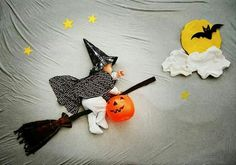 Creative Halloween idea.  Napping baby ;-)