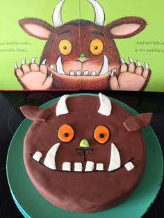 Gruffalo Cake - Food and Drink - - - gruffalo party - . - Gruffalo Cake – Food and Drink – – – gruffalo party – - The Gruffalo, Gruffalo Party, 4th Birthday Cakes, Boy Birthday, Birthday Parties, Minion Cupcakes, Cupcake Cakes, Party Cups, Cake Party