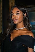 London, England,UK. 7th Nov 2016: Jourdan Sherise Dunn is an English Supermodel fashion model. She was discovered in Hammersmith Primark in 2006 reveals Tiffany Christmas window at Old Bond Street, London,UK. Photo by See Li