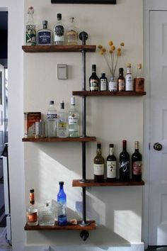 8 Top Tips and Tricks: Floating Shelves Vanity Products floating shelf design toilets.Floating Shelf Design Toilets floating shelves under tv. Industrial Pipe Shelves, Industrial Home Design, Industrial House, Pipe Shelving, Diy Pipe Shelves, Industrial Style, Industrial Closet, Industrial Restaurant, Vintage Industrial Furniture