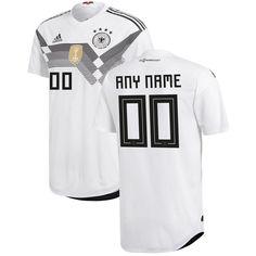 Germany National Team Soccer 2018-2019 Home Blank Custom Jersey - White b7699ec98