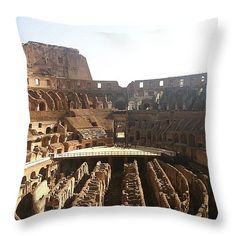 """The Colosseum In Rome Throw Pillow 14"""" x 14"""" $25 http://instaprints.com/products/the-colosseum-in-rome-marcela-martinez-throw-pillow-14-14.html"""