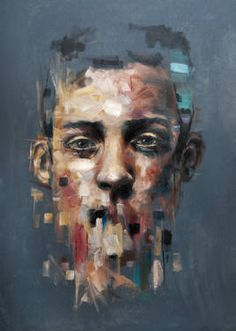 """""""Human Qualities,"""" original portrait painting by artist  Davide Cambria (Italy) available at Saatchi Art #SaatchiArt"""