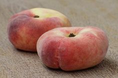 Curiously flat-shaped peach that is sweeter than other varieties and easier to eat. A snacking variety, perfect for picnics. Self-fertile so produces fruit, even when planted in isolation. Doughnut Peach, Peach Fruit, Starting A Vegetable Garden, Peach Trees, Breakfast Of Champions, Gardening For Beginners, Fruit Trees, Food Art