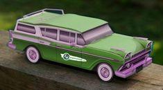 1959`s Rambler Ambassador Station Wagon - Green Version - by Paper Cruiser  --          A new 1959`s Rambler Ambassador Station Wagon, by Paper Cruiser: now a really cool green version with logo.