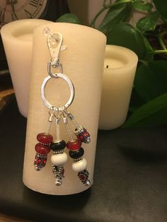 A personal favorite from my Etsy shop https://www.etsy.com/listing/555665945/keychain-murano-glass-beads-in-red-and