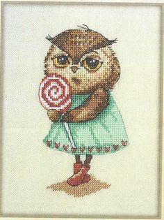 Zz Cross Stitch Owl, Cross Stitch Animals, Counted Cross Stitch Kits, Cross Stitch Patterns, Critters 3, Small Owl, Crochet Owls, Back Stitch, Pet Birds