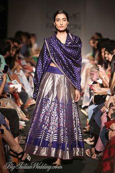 Sanjay Garg designer lehenga in purple hues