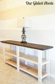 Woodworking Organization Home Our Gilded Abode - DIY Console Table.Woodworking Organization Home Our Gilded Abode - DIY Console Table Furniture, Diy Home Decor, Cheap Home Decor, Diy Sofa, Diy Console, Diy Furniture, Diy Sofa Table, Home Decor, Diy Console Table