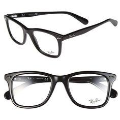 womens ray ban icon wayfarer 52mm optical glasses 195 liked on