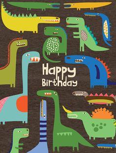 Beautiful dinosaurs!! print & pattern: CARDS - new season ecojot : part 2