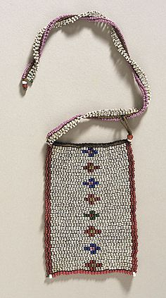Love Letter Necklace, South Africa, Zulu people, 1900-1950, Multicolored glass beads on cotton