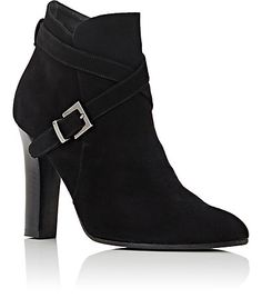 Barneys New York Crisscross-Strap Suede Ankle Boots - Boots - 504775787