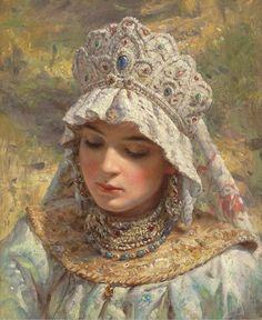 In ancient Rus, women didn't wear hats. Hats were for men. Women had their own…