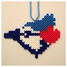 Blue Jays Perler Christmas ornament or magnet by K8BitHero on Etsy