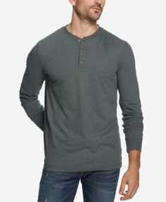 182c4e76441 Weatherproof Vintage Men s Heathered Henley - Nightshade XXL Vintage Men