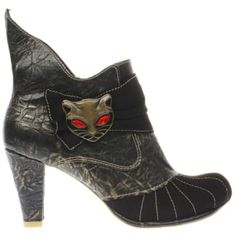 irregular choice black & gold miaow boots | Bluewater | £74.99
