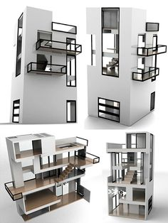 Dollhouse by Brica Dada — The Bennett House is inspired by the De Stijl movement of the early 20th century. via http://www.brincadada.com