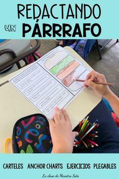 Redactando un buen párrafo Paragraph Writing, Persuasive Writing, Writing Rubrics, Opinion Writing, Spanish Lesson Plans, Spanish Lessons, Spanish Teacher, Spanish Classroom, Connecting Words