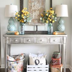 Love rustic with pops of color