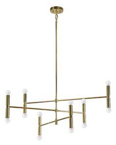 Modern Gold Chandelier