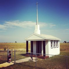 Tiny church at a rest stop on the I-90 at mile marker 301 - South Dakota