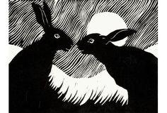 'Winter_Hare'_linocut_by_Rosemary_Farrer.jpg (402×275)