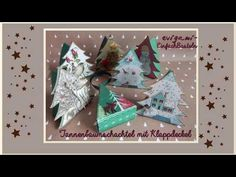 Evigami Tannenbaumschachtel mit Klappdeckel - YouTube Advent Calendar, Box, Gift Wrapping, Holiday Decor, Paper, Gifts, Youtube, Present Wrapping, Free Stencils
