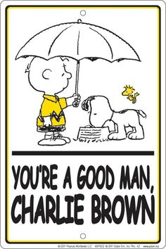 Peanuts Gang Charlie Brown Snoopy Youre A Good Man Metal Sign Charles Shultz | eBay