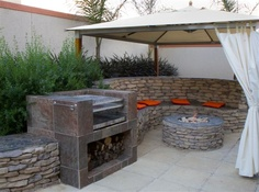 Braai Ideas on Pinterest | Built Ins, Built In Bbq and ... on Modern Boma Ideas id=44360