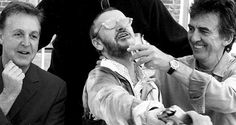 This is what is thought to be the last photo of Paul, George and Ringo together.  It was taken by Pattie Boyd (George's ex-wife and dear friend of the band) in 2000.  Shortly after, George's health took a turn for the worst.