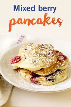 This pancake recipe is made for weekends! Our mixed berry pancakes are sure to please any breakfast or brunch craving. Trust us -- they're worth waking up for!