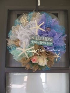 wreath front door mermaid fish your doors star pin beach decor give custom wreaths coastal sea summer