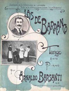 """Las de Barranco""  tango para piano, de Arnaldo Barsanti"