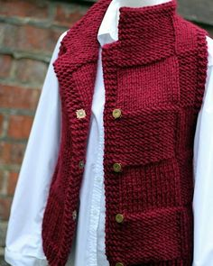 Knitting Pattern Bordeux Jacket Womens T - Diy Crafts Pull Crochet, Gilet Crochet, Knitted Poncho, Knit Cardigan, Cardigans For Women, Jackets For Women, Diy Crafts Knitting, Knit Vest Pattern, Sleeveless Cardigan