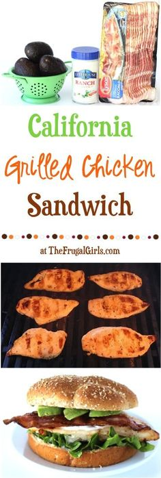 California Bacon Avocado Ranch Grilled Chicken Sandwich Recipe! ~ from TheFrugalGirls.com ~ go fire up the grill and get ready for the explosion of flavors in this delicious chicken burger! #recipes #thefrugalgirls
