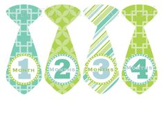 Monthly Onesie Stickers Baby Month Stickers for baby boy by getthepartystarted, $12.00