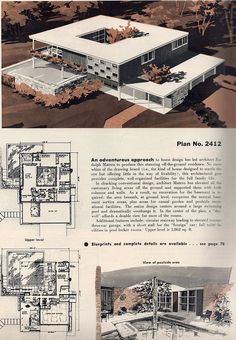 Plan No. 2412 | Flickr - Photo Sharing! 4 Bed, 4 Bath, 3-Car Garage, Atrium, Pool